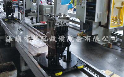 Línea de producción y montaje de motores de automóviles